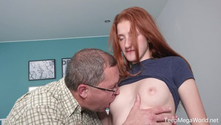 Old cock inside fresh pussy
