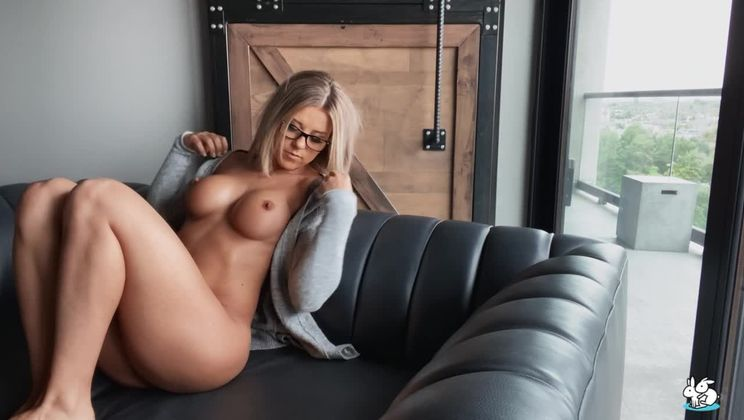Horny Blonde With Glasses